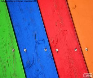 Puzzle de Maderas de varios colores