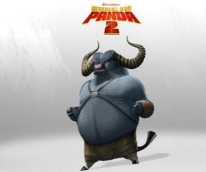 Puzzle de Maestro Buey es el mejor alumno del Maestro Rinoceronte. Su cuernos son su arma más mortífera