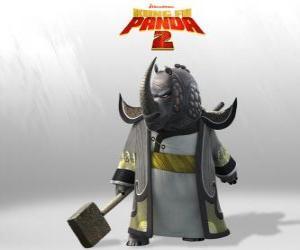 Puzzle de Maestro Rinoceronte es él más venerado de todos los maestros del Consejo del Kung Fu