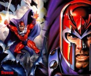 Puzzle de Magneto, el principal antagonista de los X Men, el supervillano con sus mutantes quiere dominar el mundo