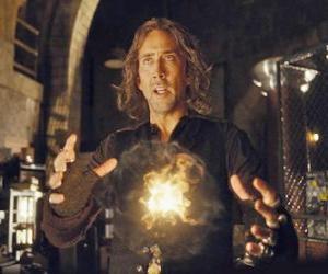 Puzzle de Mago o hechicero con el fuego mágico