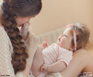 Puzzle de Mamá y su bebé