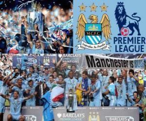 Puzzle de Manchester City, campeón Premier League 2011-2012, liga de fútbol de Inglaterra
