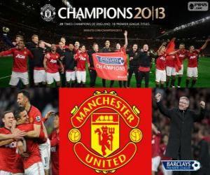 Puzzle de Manchester United, campeón Premier League 2012-2013, liga de fútbol de Inglaterra