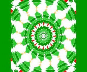 Puzzle de Mandala con decoración navideña