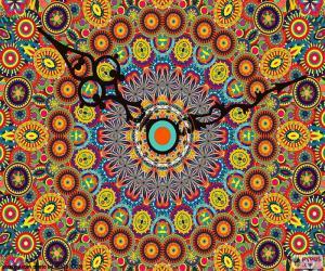 Puzzle de Mandala, reloj