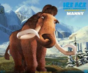 Puzzle de Manfred, Manny, el mamut