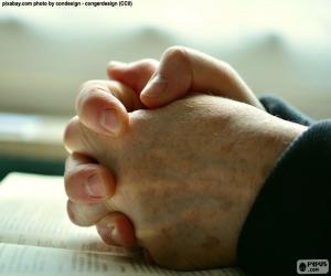 Puzzle de Manos rezando
