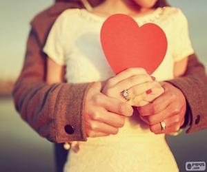 Puzzle de Manos y corazón