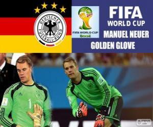 Puzzle de Manuel Neuer, guante de Oro. Mundial de Fútbol Brasil 2014