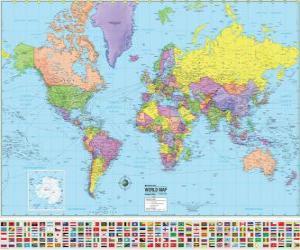 Puzzle de Mapa con las fronteras de los países del mundo