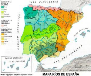Puzzle de Mapa de ríos de España
