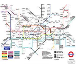Puzzle de Mapa del Metro de Londres