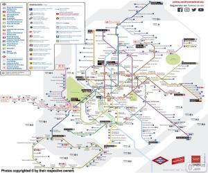 Puzzle de Mapa del Metro de Madrid