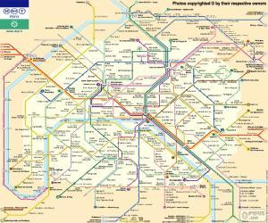 Puzzle de Mapa del Metro de París