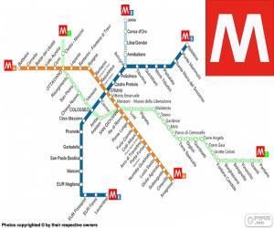 Puzzle de Mapa del Metro de Roma