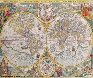 Puzzle de Mapa histórico del mundo