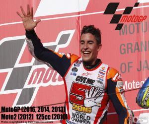 Puzzle de Marc Márquez, MotoGP 2016