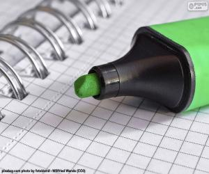 Puzzle de Marcador verde