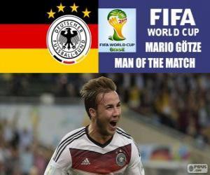 Puzzle de Mario Götze, mejor jugador de la final. Mundial de Fútbol Brasil 2014
