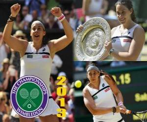 Puzzle de Marion Bartoli Campeona Wimbledon 2013