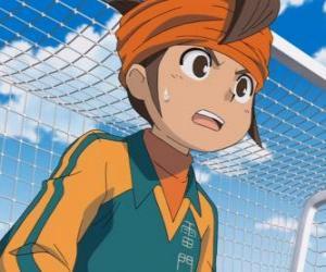 Puzzle de Mark Evans o Mamoru Endo, portero del equipo de la Escuela Raimon y protagonista principal de la série Inazuma Eleven