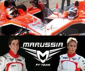 Puzzle de Marrussia F1 Team 2013