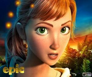 Puzzle de Mary Katherine, una adolescente que vive aventuras en un mundo fantástico