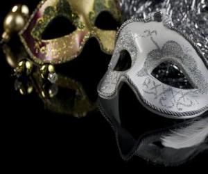 Puzzle de Mascaras para la fiest de Fin de año