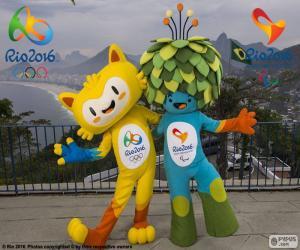 Puzzle de Mascotas olímpicas de Río 2016