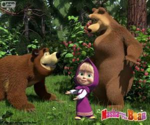 Puzzle de Masha con los dos osos
