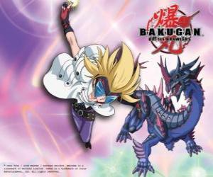 Puzzle de Masquerade y su Bakugan Darkus Hydranoid