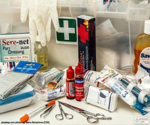Puzzle de Material de primeros auxilios