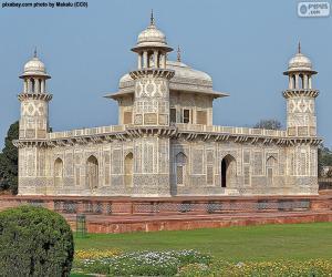 Puzzle de Mausoleo de Itimad-Ud-Daulah, India