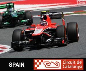 Puzzle de Max Chilton - Marussia - Circuit de Catalunya, Barcelona, 2013