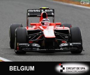 Puzzle de Max Chilton - Marussia - Spa-Francorchamps, 2013