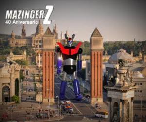 Puzzle de Mazinger Z 40 aniversario (1972-2012)
