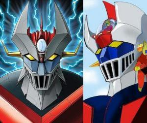 Puzzle de Mazinger Z, imágenes de la cabeza del Super Robot