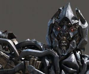 Puzzle de Megatron el malvado líder de los Decepticons
