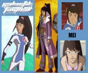 Puzzle de Mei es la jugadora número 7 del equipo de los Snow Kids