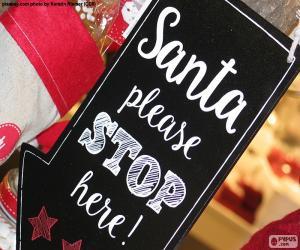 Puzzle de Mensaje para Papá Noel