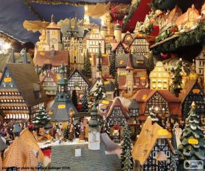 Puzzle de Mercado de Navidad, adornos
