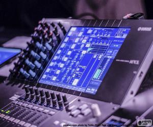Puzzle de Mesa de mezclas de audio