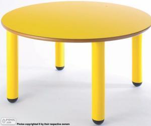 Puzzle de Mesa redonda y amarilla