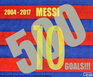 Puzzle de Messi 500 goles