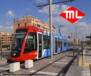 Puzzle de Metro Ligero de Madrid