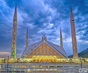 Puzzle de Mezquita Faisal, Pakistán