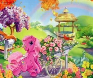 Puzzle de Mi pequeño pony rodeado de flores