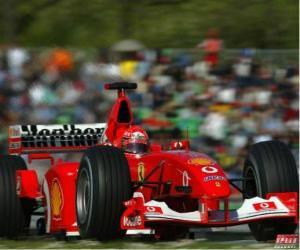 Puzzle de Michel Schumacher (el Kaiser) pilotando su F1