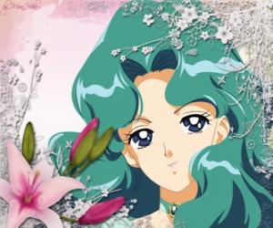 Puzzle de Michiru Kaioh o Vicky Kaiou se convierte en Sailor Neptune, Guerrero o Princesa Neptuno
